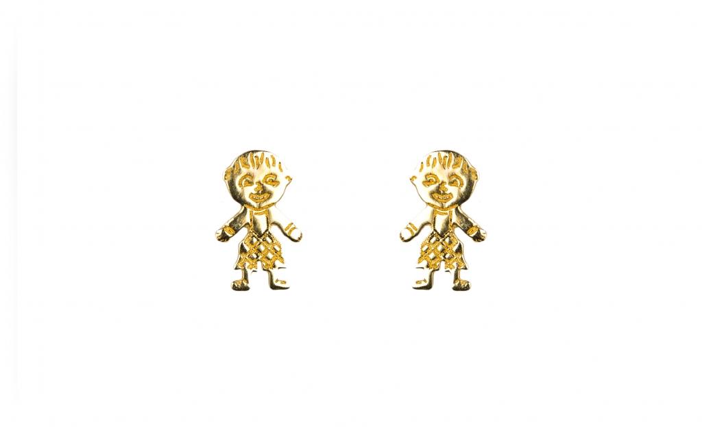 Brincos em ouro amarelo